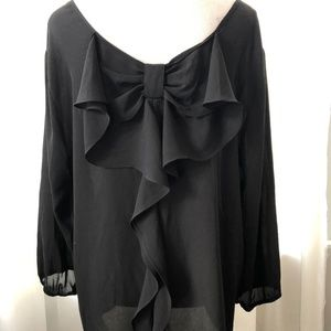 The Limited Black Blouse with Romantic Back Detail